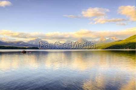 usa montana glacier national park lake