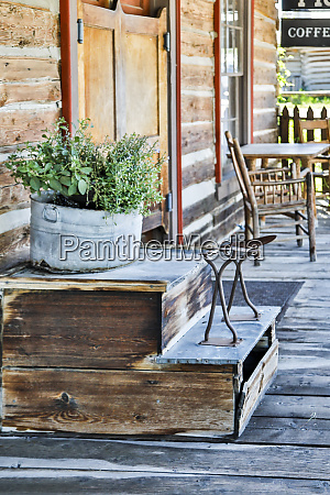 usa montana nevada city porch