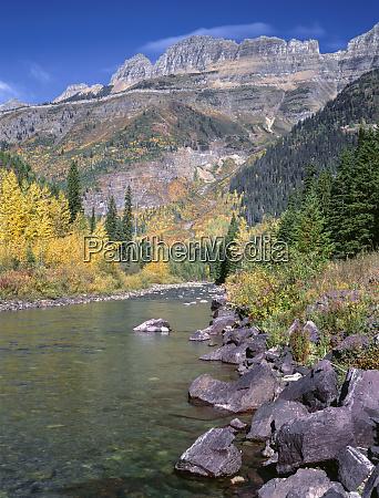 usa montana glacier national park autumn