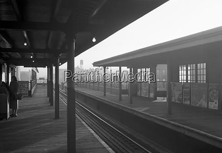 elevated subway station manhattan 1948 new