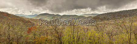 usa north carolina cherokee panoramic view
