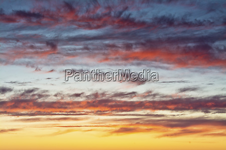 sunset sky heceta beach oregon coast