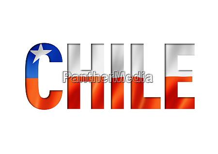 chilean flag text font