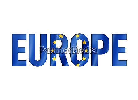 european union flag text font