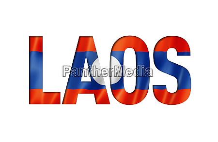 laos flag text font