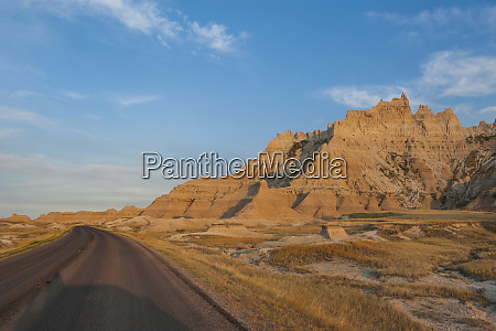 road through the badlands national park