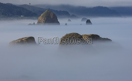 view of cannon beach with sea