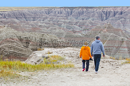 usa south dakota loop road badlands