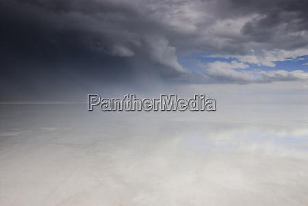 usa utah passing thunderstorm over bonneville