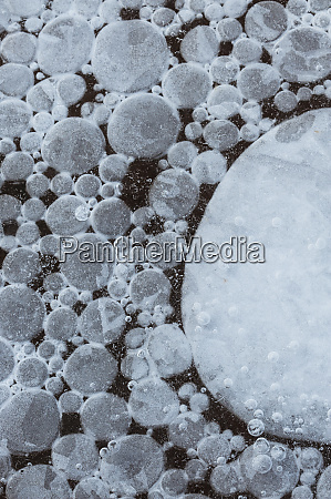 usa utah abstract frozen ice bubbles