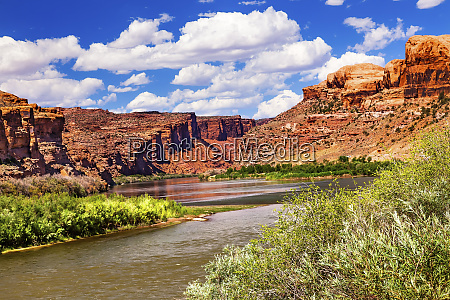 colorado river through desert landscape red