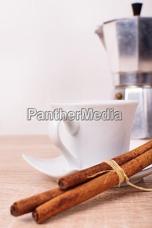 morning coffee with cinnamon