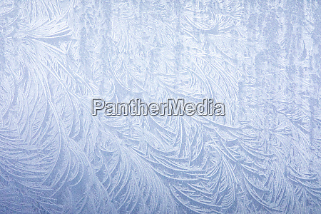 frost on automobile silver fender