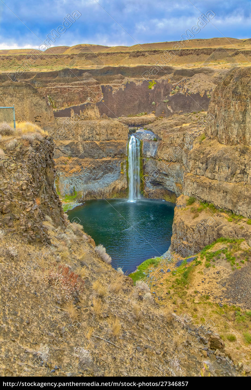 usa, , washington, state, , palouse, falls., waterfall - 27346857