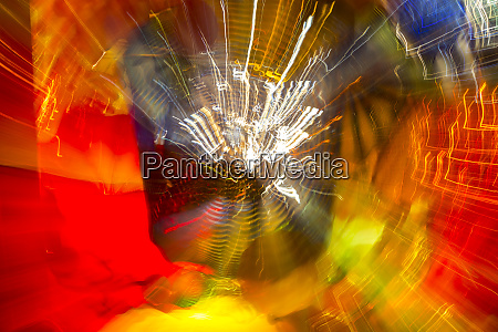 colorful glass with blurred motion effect