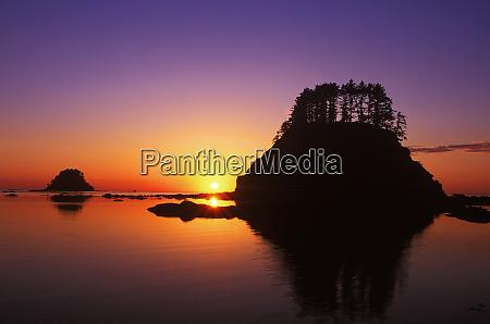 cape alava sunset olympic np wa