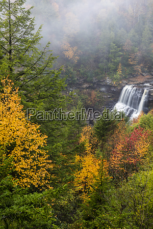 blackwater falls in autumn in blackwater