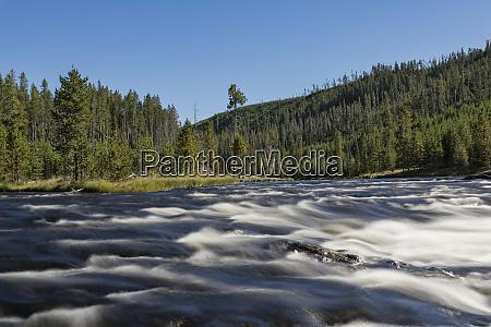 long exposure on flowing water of