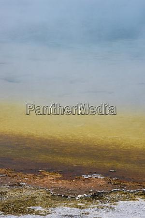 usa wyoming sunset lake black sand
