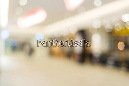 blur of shopping mall inside