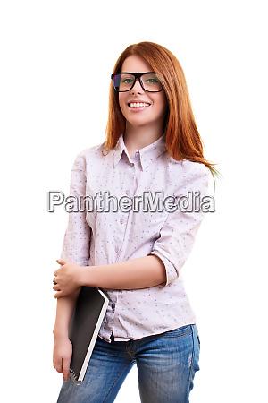 cute nerd girl