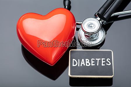 diabetes stethoscope and heart