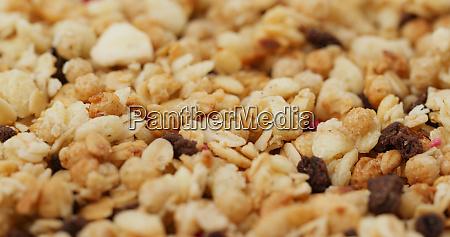 stack of oat cereal breakfast