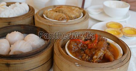 chinese dim sum in restaurant