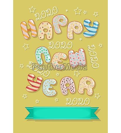 happy new year 2020 funny donuts