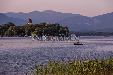famous chiemsee lake in bavaria