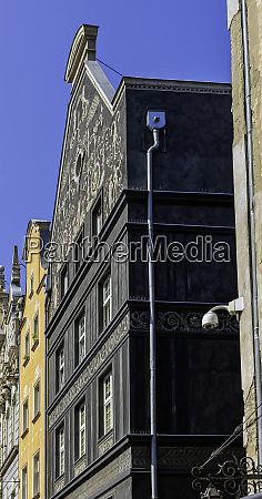 vintage architecture of old town in