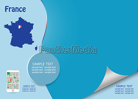 travel france template concept vector
