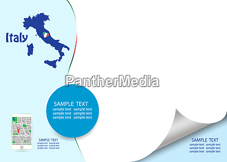 travel italy template concept vector
