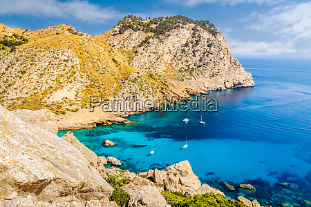 coastline with cliffs turquoise water and