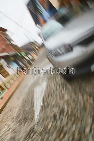 careless street crossing car accident