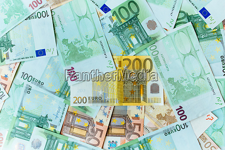 euro cash background many banknotes of