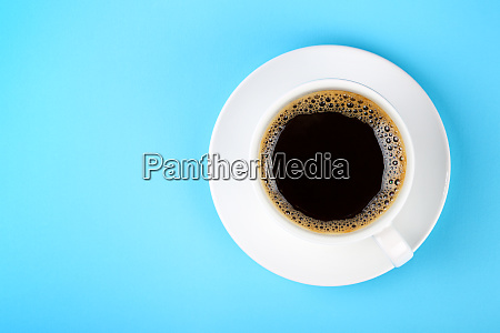 full white cup of black coffee