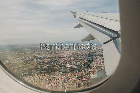 aerial view of valencia spain from