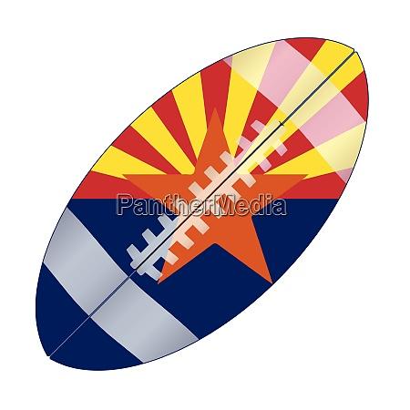 arizona state usa football flag