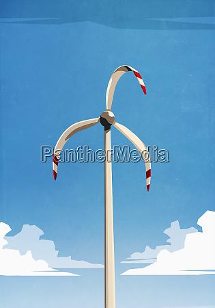 melted wind turbine