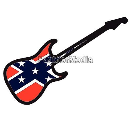 confederates civil war electric guitar