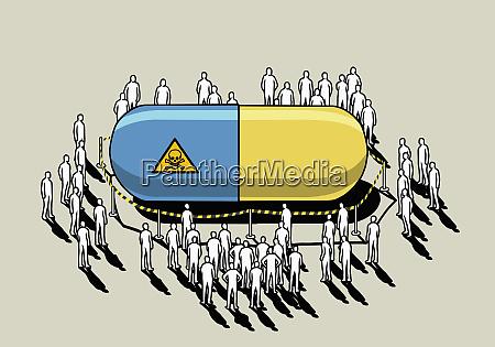 people surrounding dangerous roped off prescription