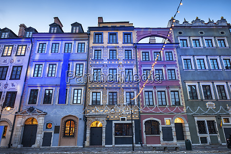row of historic tenement houses at