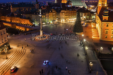 aerial view of castle square in