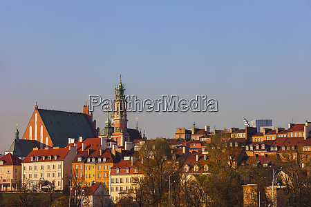 skyline of the old town at