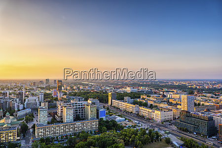 aerial view of the city at