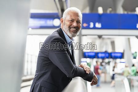 portrait of smiling mature businessman at