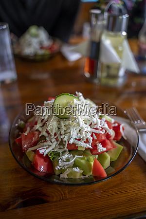 shopska salad traditional bulgarian summer salad