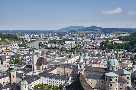old town with salzburg cathedral salzburg