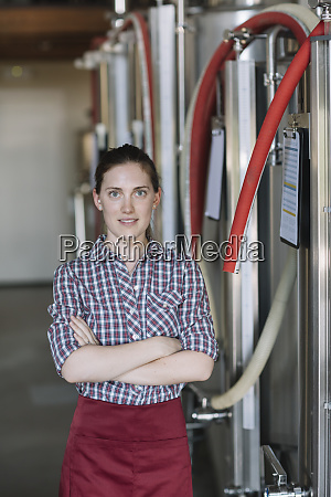 portrait of confident young woman at